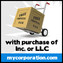 Free shipping with purchase of Inc or LLC