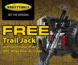 Free Trail Jack when you buy an XRC Atlas Rear Bumper