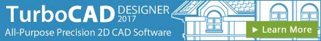 TurboCAD Designer - easy-to-use 2D CAD software.