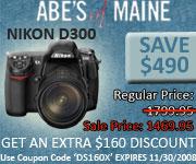 Nikon D300 $490 Off.