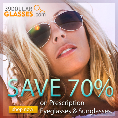 Today's Hottest Style Glasses, Frames AND Lenses For $39!!
