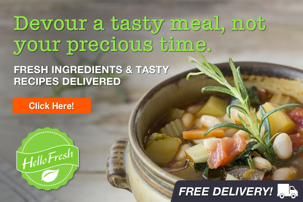 Devour a tasty meal, not your precious time with HelloFresh! Get fresh ingredients & tasty recipes