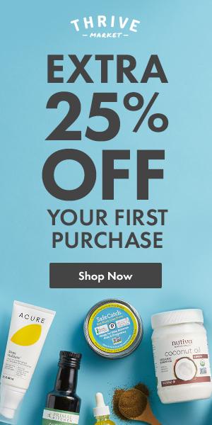 Thrive Market 25% banner