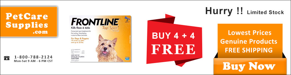 Frontline TopSpot Free Doses + Free Shipping! Limited Stock with 10% ExtraOff at PetCareSupplies.com