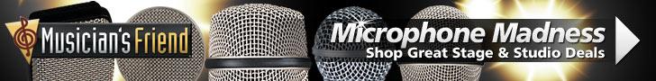 Microphone Madness at MusiciansFriend.com