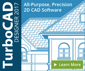 TurboCAD Deluxe - perfect for creating floorplans, technical illustrations, charts, and more.
