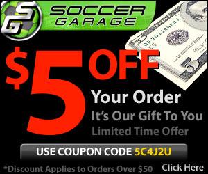 $5 Off Your Order at SoccerGarage.com