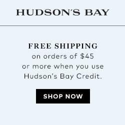 Free shipping on orders of $45 or more when you use Hudson