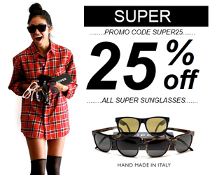 SUPER SUNGLASSES 25% OFF