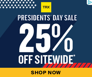 TRX Presidents' Day Savings! 25% OFF SITEWIDE* + FREE Shipping*!