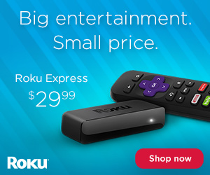 Roku Express - 1080P HD streaming made easy.