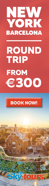 New York to Barcelona with Skytours from 416 EUR