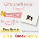 Save 25% on $25 for Mother's Day
