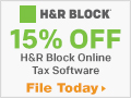Save 15% on H&R Block Online