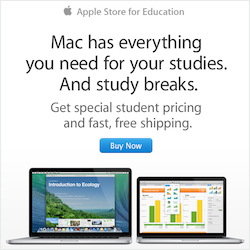 Make a brilliant college entrance. Buy a Mac, iPad, or iPhone for college and get a gift card