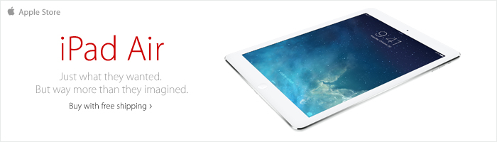 iPad air. The power of lightness. Get fast, free shipping.