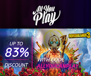 Use ALLYOUCANPLAY in the checkout for an additional 20% discount!