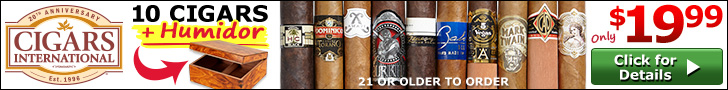 10 Cigars + Humidor - Only $19.99