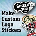 Custom Logo Stickers 125x125px