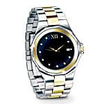 Timeless Love Engraved Diamond Men's Watch