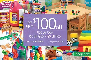 ave Up To $100 OFF Plus Free Shipping On Orders Over $99 - At Discount School Supply!