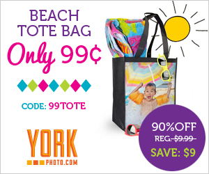 Custom Beach Tote Bag - Just 99¢ - Save $9!