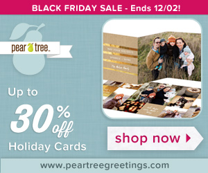 Save up to 30% on holiday cards