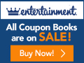 Entertainment Book - All Books 50% Off Plus FREE Shipping.