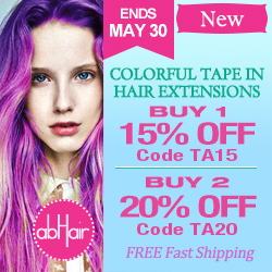 Colorful tape in hair extensions up to 20% off +FS