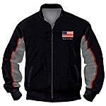 Veterans Salute Men's Jacket With Jody Bergsma Eagle Art