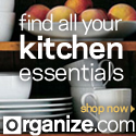 Get your Kitchen in Order! Find all your Kitchen Essentials, Organizers & More at Organize.com! SAVE $5 OFF orders $75+ with Promo Code: 5OFF75