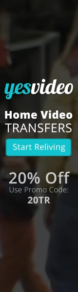 160x600 YesVideo Holiday 20% Off Coupon Special - Ends January 31st