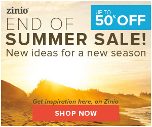 50% off- End of Summer sale