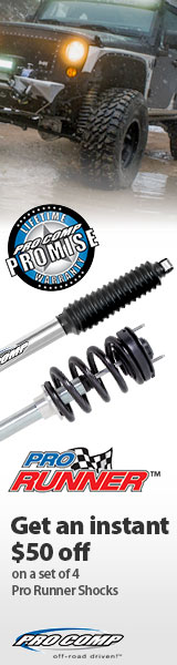 Buy a Pro Comp Pro Runner Series Shocks & Struts and get an instant 10% Off!