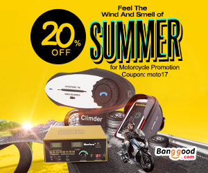 Extra 20% OFF For Motorcycle Promotion