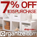Get 7% OFF $35 Purchase at Organize.com