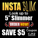 Look up to 5 slimmer and save $5 on the Original Insta Slim shirts for men.