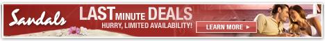 Last minute deals at Sandals Resorts