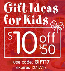 Gift Ideas For Kids - Save $10 Off $50 Plus Free Shipping On Stock Orders Over $99 - At Discount Sch