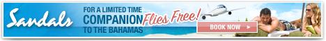 Companion Flies Free to Sandals Resorts