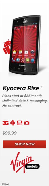 Get The New Kyocera Rise from Virgin Mobile, only $99.99!