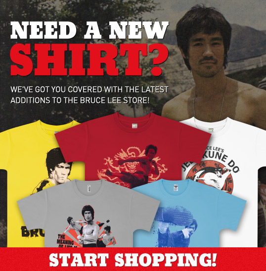 Bruce Lee's got your back wherever you go! Pickup a Bruce Lee T-shirt today!