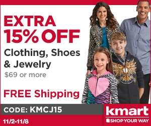 Valid on items sold by Kmart. Excludes clearance, hot buys, everyday great price, watches, and items sold by Sears.