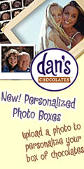 Personalized Photo Boxes for Dan's Chocolates