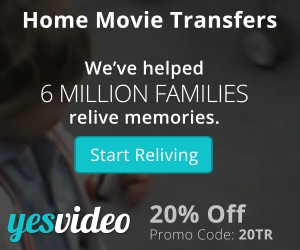 300x250 YesVideo Holiday 20% Off Coupon Special - Ends January 31st