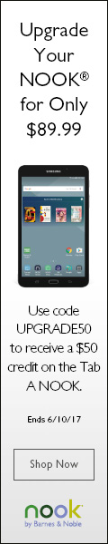 Use Code UPGRADE50 to receive a $50 Credit on the Tab A NOOK! Shop BN.com