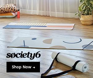 yoga mats from Society6