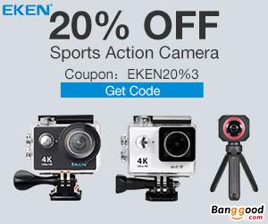 Extra 20% OFF For EKEN Action Cameras
