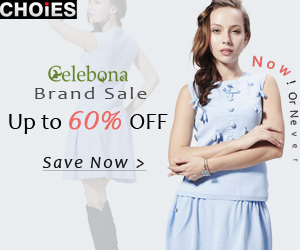 Celebona sale up to 60% off at Choies, free shipping worldwide