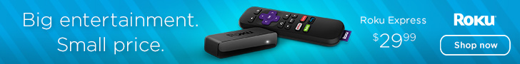 Roku Express. Big Entertainment. Small Price.